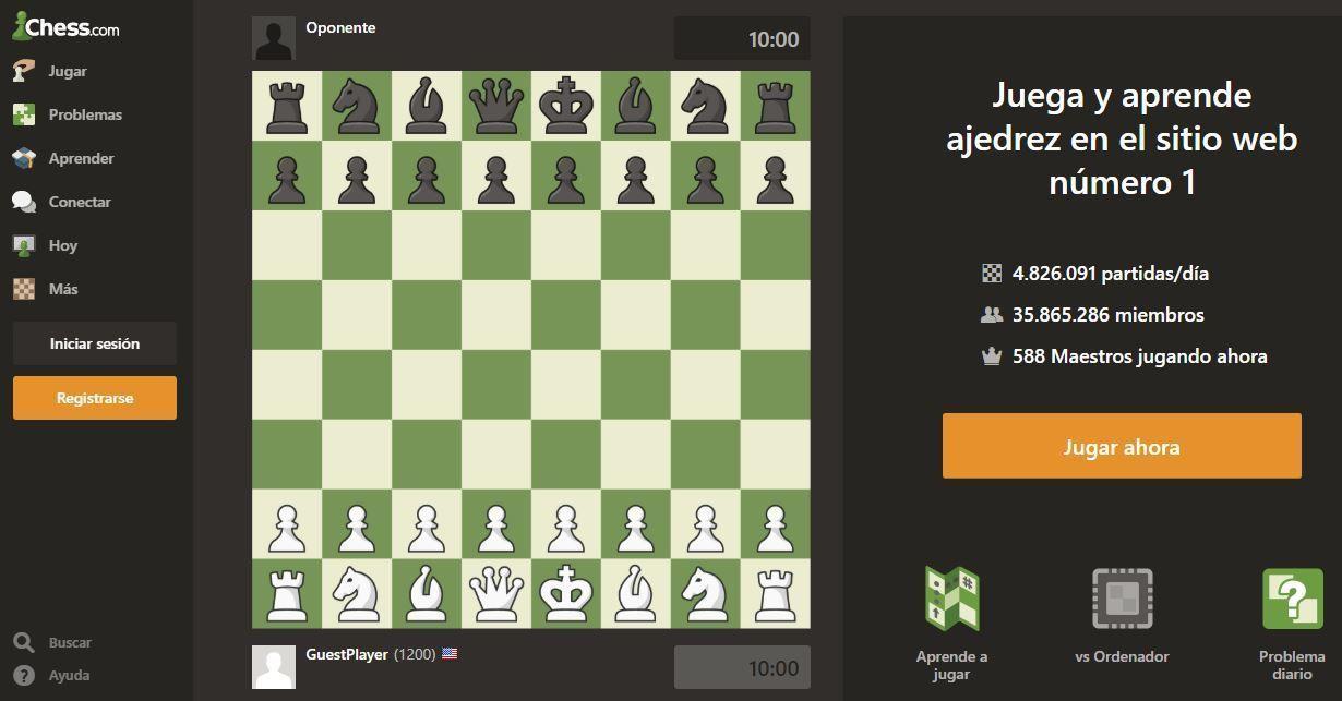 Sitios web para jugar ajedrez en linea gratis