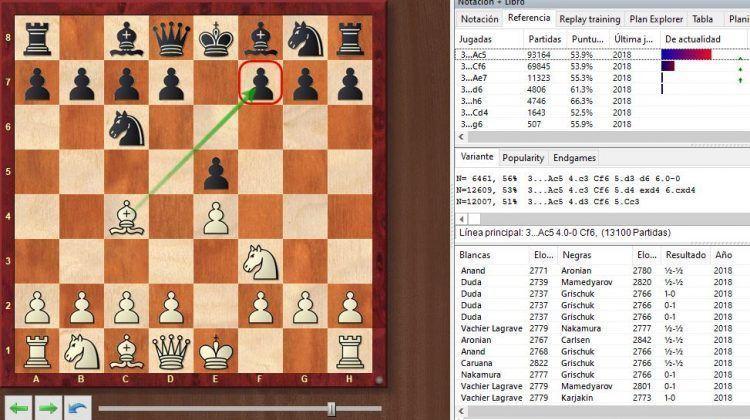 aperturas de ajedrez chessbase