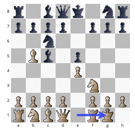 Sabes jugar el enroque en ajedrez?