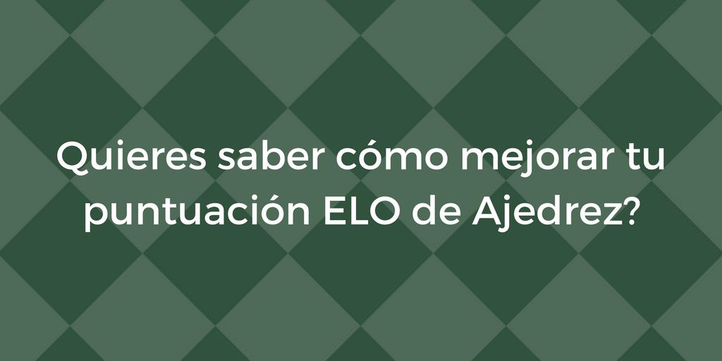 Sabes cómo funciona la puntuación ELO de Ajedrez?