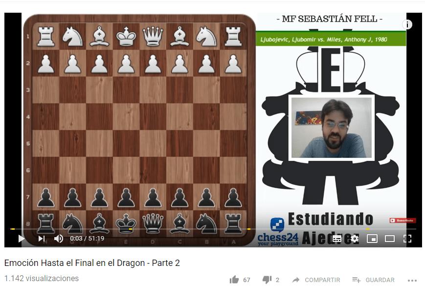 estudiando ajedrez