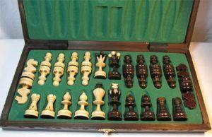 estuche ajedrez de madera