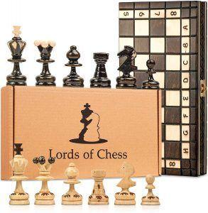 tablero de ajedrez de madera