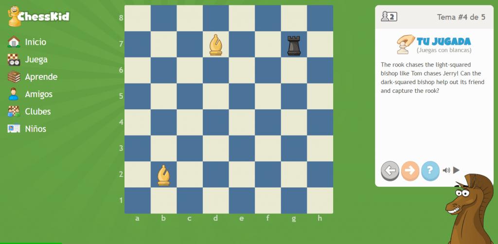leccion en chesskid