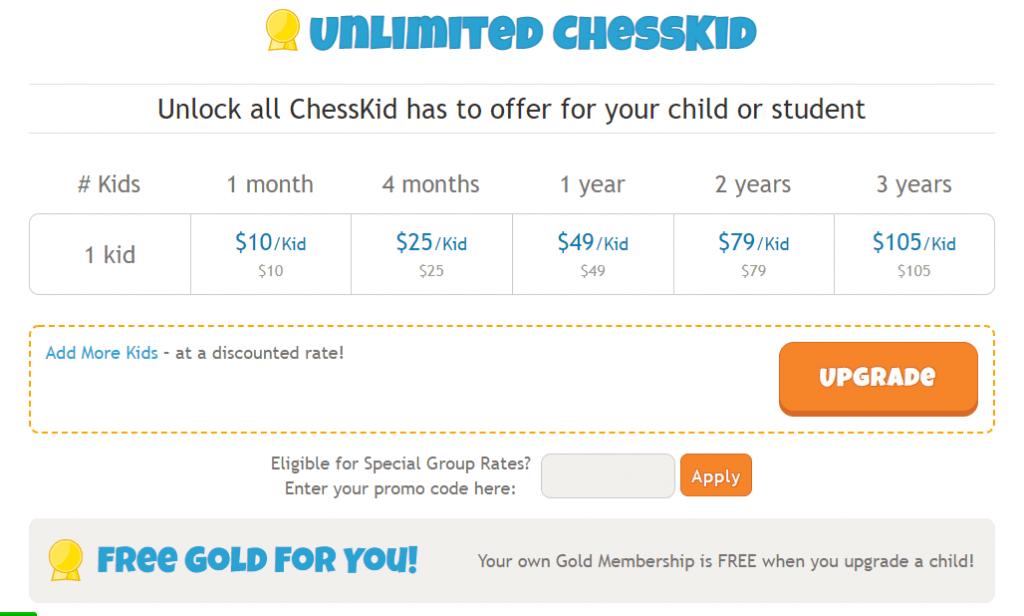 subscripción a chesskid
