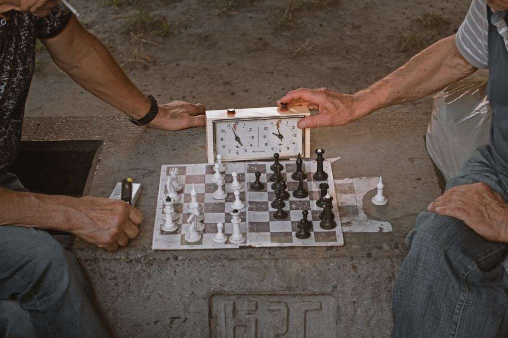 partida ajedrez con reloj