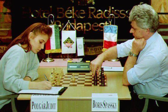 Judit Polgar contra Spassky